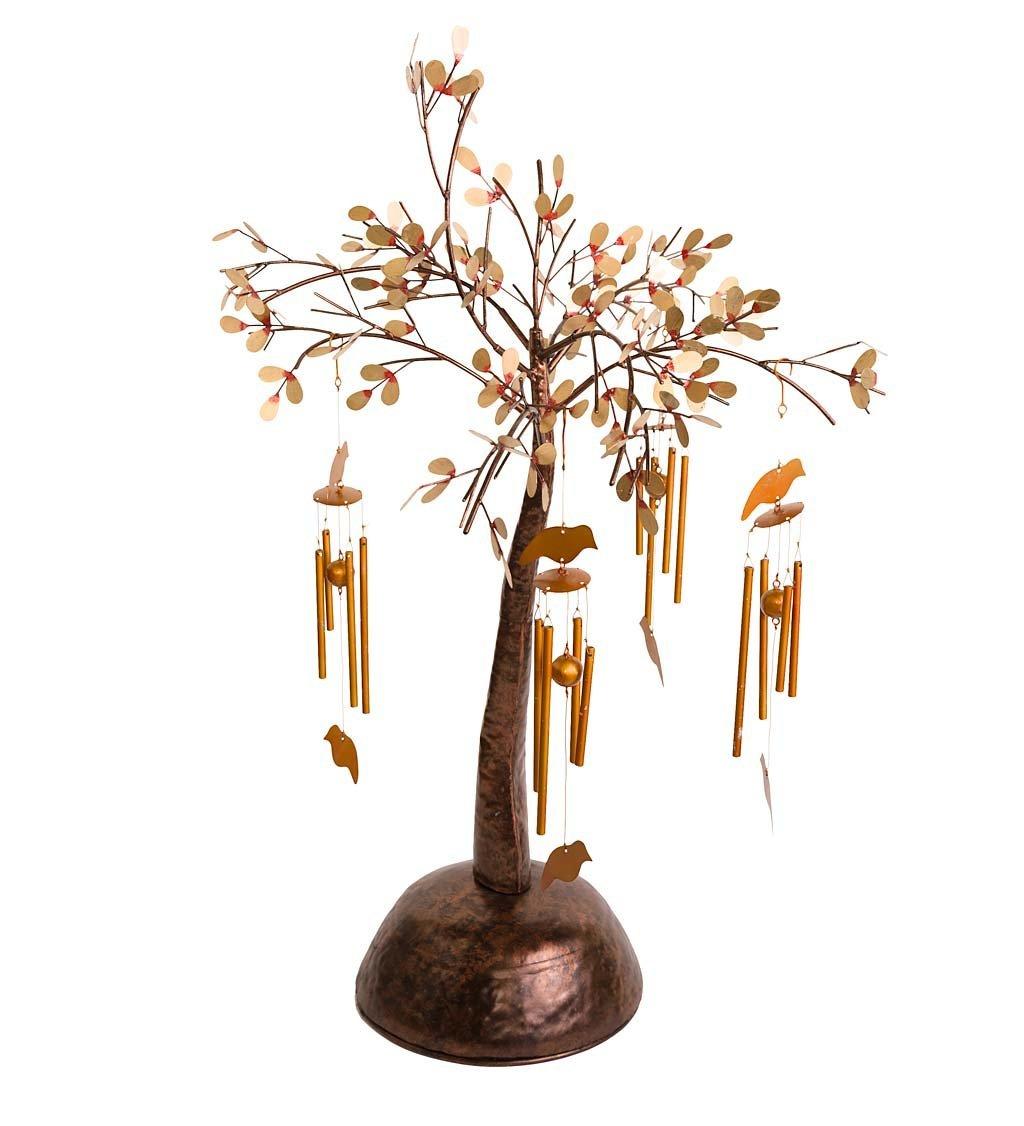Metal Wind Chime Tree - 24 L x 24 W x 33 H