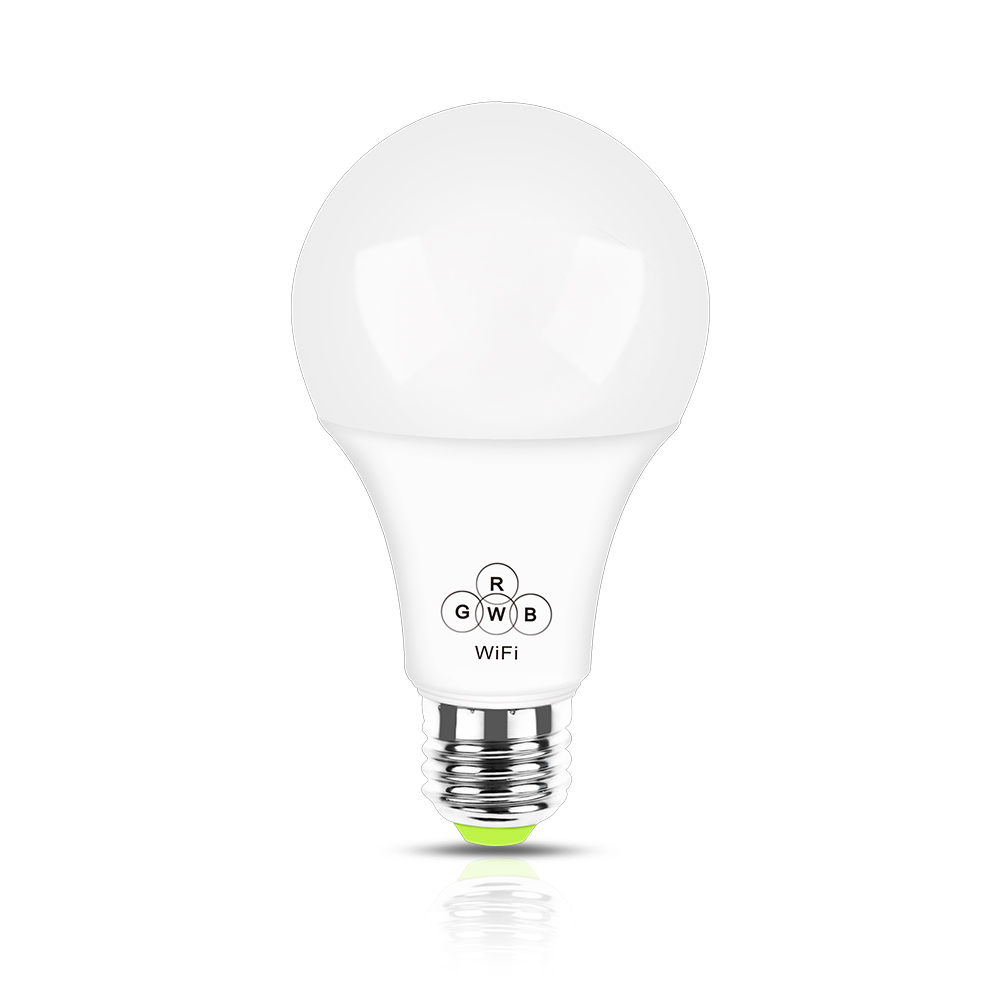 Magic home wifi bulb 4.5w RGB+warm white smart bulb color change E26 E27 with FCC certificate