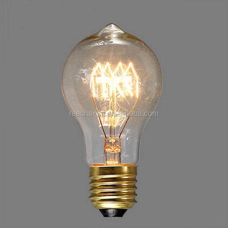 A19 Antique Edison Vintage Light Bulb Quad Loop/squirrel Cage ...