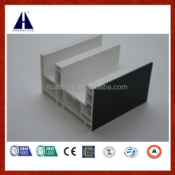 CE quality approval sliding upvc frame with ASA color co-extruded