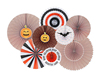 Halloween Party Fans Set of 8 Halloween Party Decor Halloween Birthday Decor House Decorations Halloween Sweet Table Decor Fans