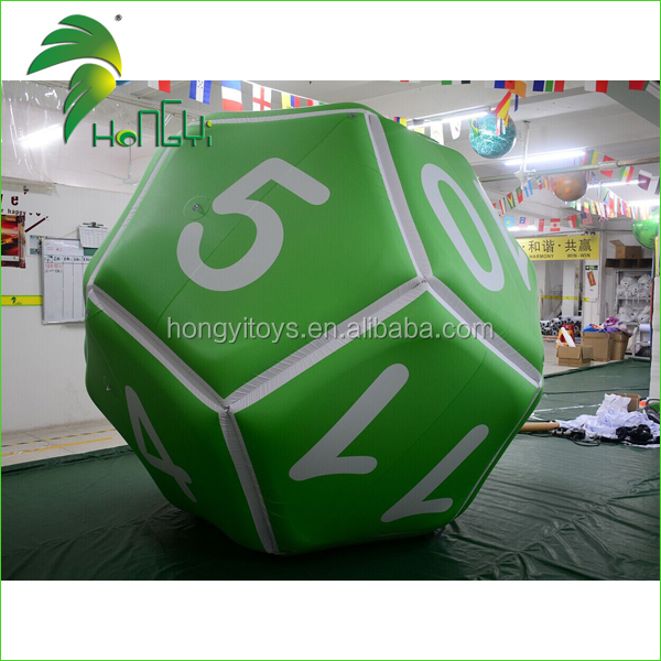 Amazing Technical Design Event Display Inflatable PVC Dice / Promotion Big Sealed Inflatable Dice Ballon