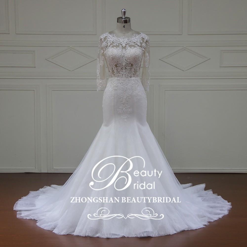 Xfm012 Mermaid Wedding Dress In Cream ColorWedding Dress With Open Back Wholesale Price