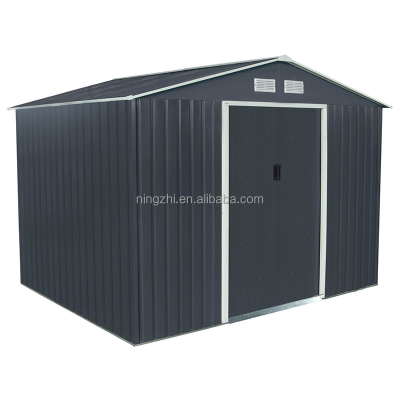 gable roof steel garden shed ,garden shed storage for sale