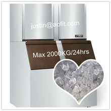 Hotel Eetbare Ice Maker Machine Capaciteit Is 2000Kg/24 Uur, Moq 1 Set