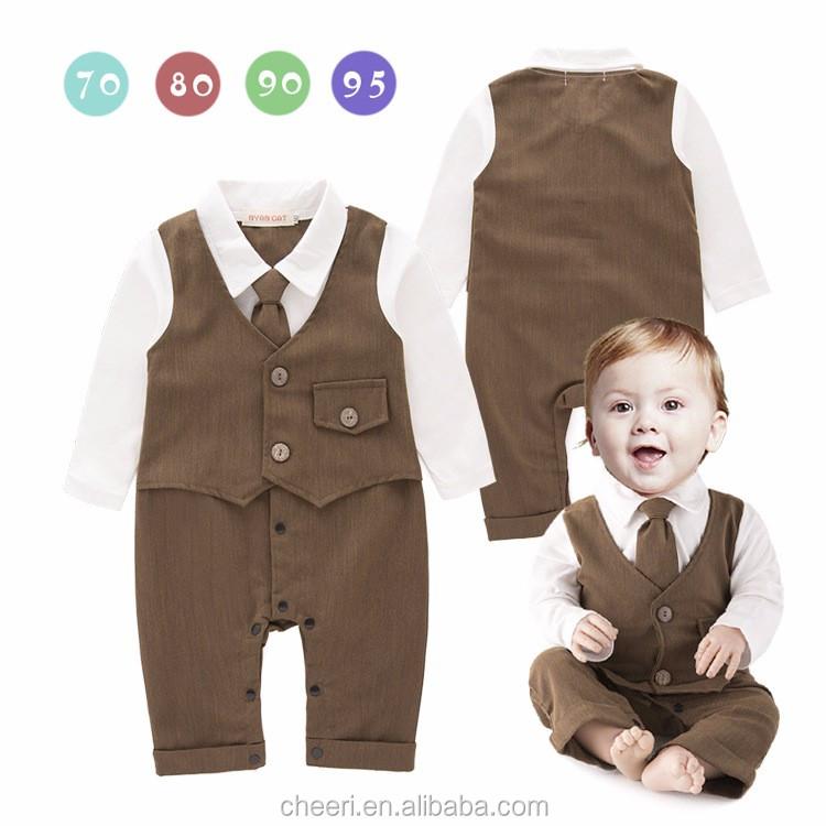Ht Jjb Fancy Soft Cute Wedding Boy Suit Wholesale Kids Romper Long