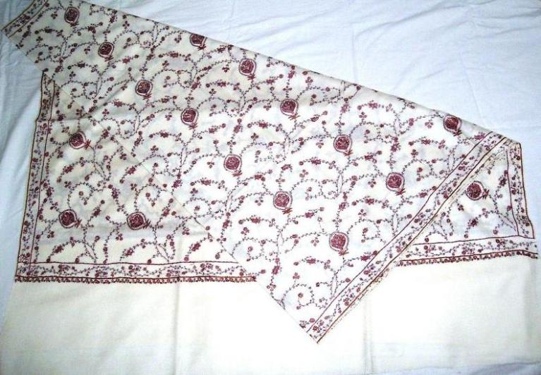 Allover Kashmiri Hand Embroidery Pure Wool Shawls & Stoles.