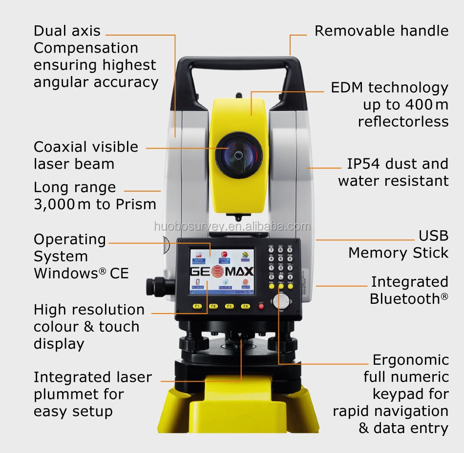 Total Station For Surveying Geomax Zipp 20 Leica Geomax