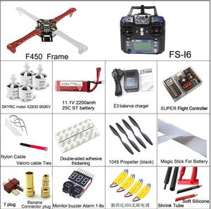 DIY RC F450 frame quadcopter multicopter kit with FS- I6 remote controller