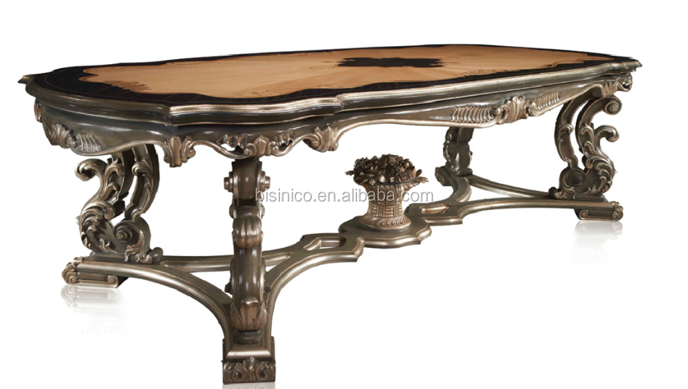 French Baroque Style Luxury Executive Office DeskEuropean Classic