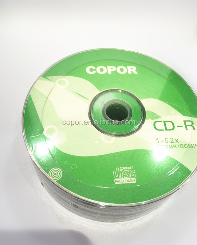 factoy wholesale silk print any logo print blank cd dvd with plastic sleeve