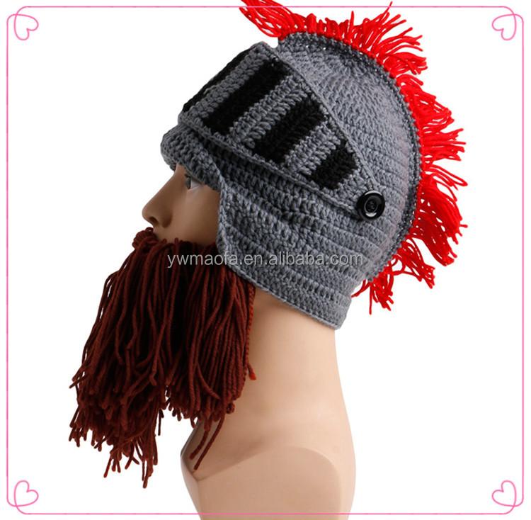 Roman Soldier Helmet Hat With Plumegreek Trojan Beard Hatinstant