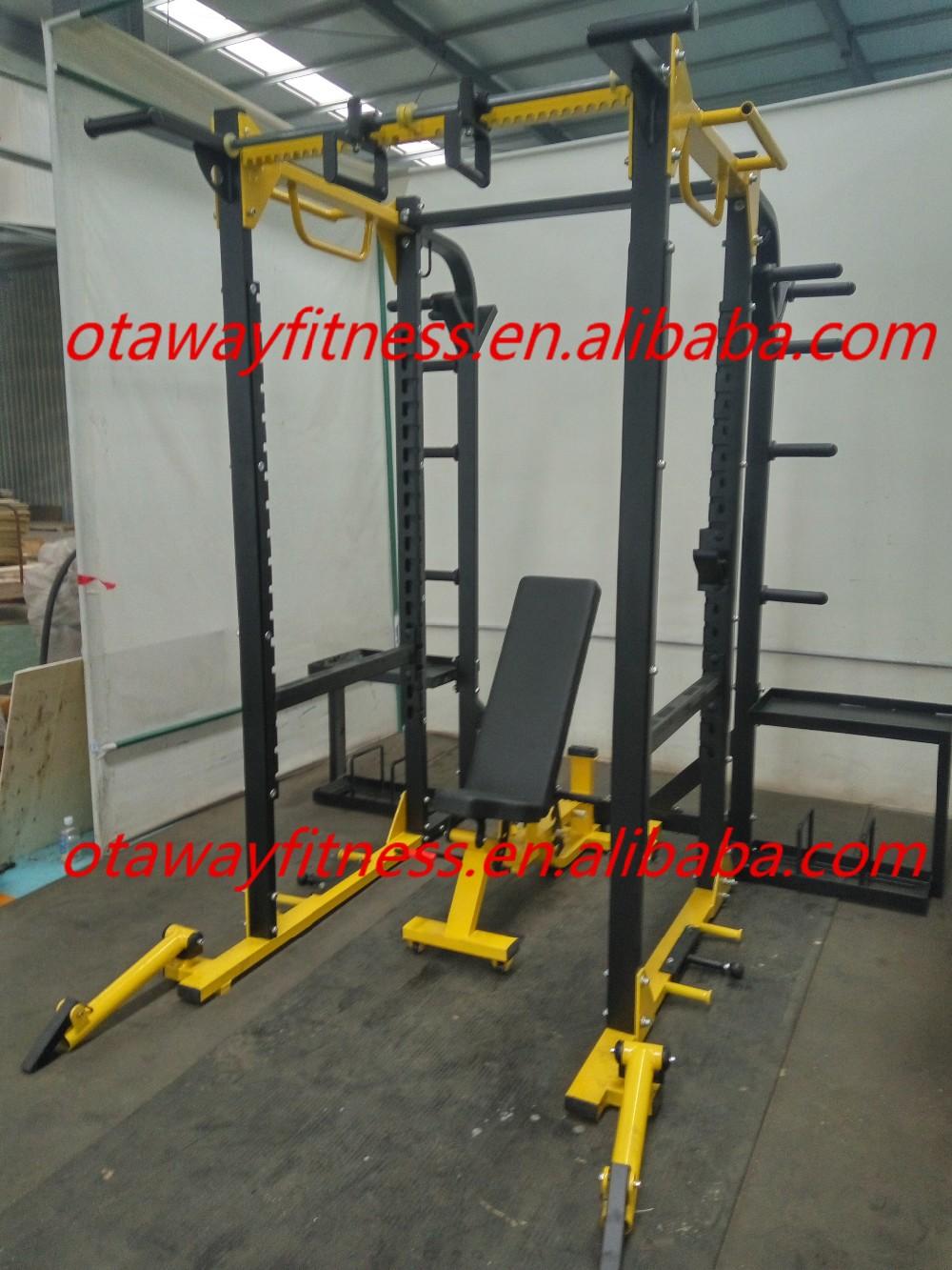 commercial hammer strength hd elite gym power rack half. Black Bedroom Furniture Sets. Home Design Ideas