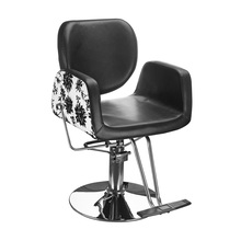 Cheap salon furniture Hairdressing Chair 150KGS black salon chair.