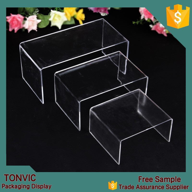 Acrylic Cellphone holder rack wallet display shelf jewelry stand frame 3 pcs/lot