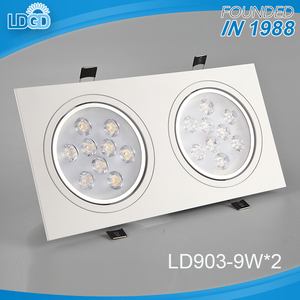 Hot-selling promotional custom cheap two head recessed 9w*2 led spotlight