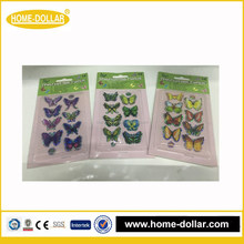 2016 variety customized unique kids 3D butterfly sticker decor