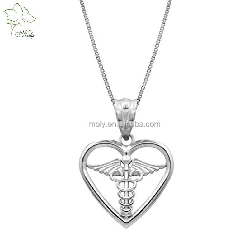 925 Sterling Silver Medical Symbol Pendant Necklace Buy Pendant