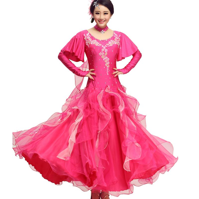 88eff09892d0 AAW 2015 new style fashion long ballroom dress v-neck upscale tango dance  dresses ballroom hot sale dresses for standard dances