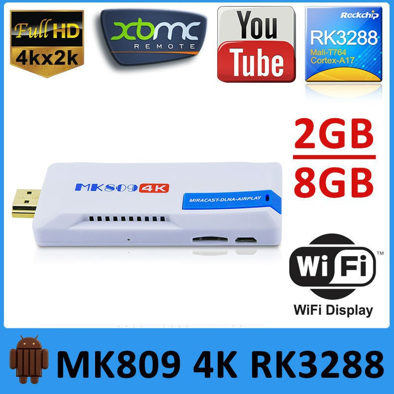 KODI installed mk809iv mini pc <strong>tv</strong> <strong>dongle</strong> <strong>stick</strong> android 4.4 rk3288 4k media player