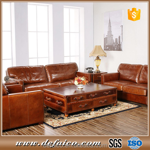 Antique Genuine Leather Chinese Sofa For Living Room Product On Alibaba