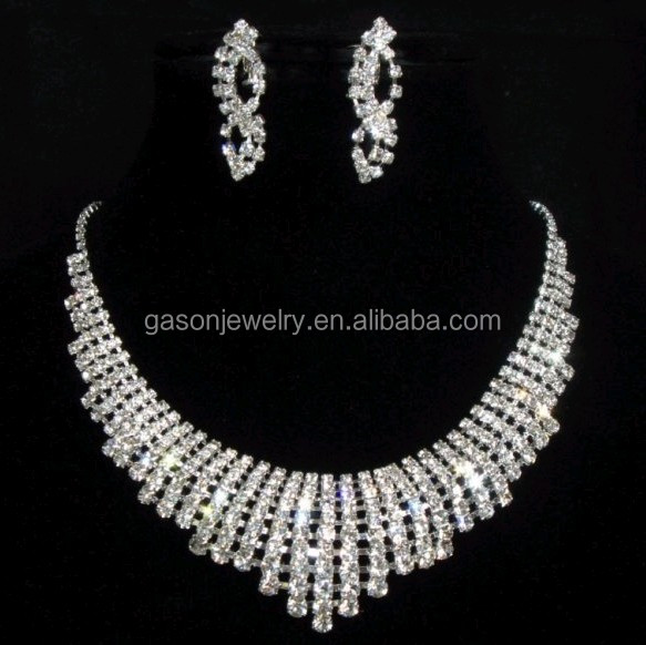 Factory wholesale silver wedding necklace sets
