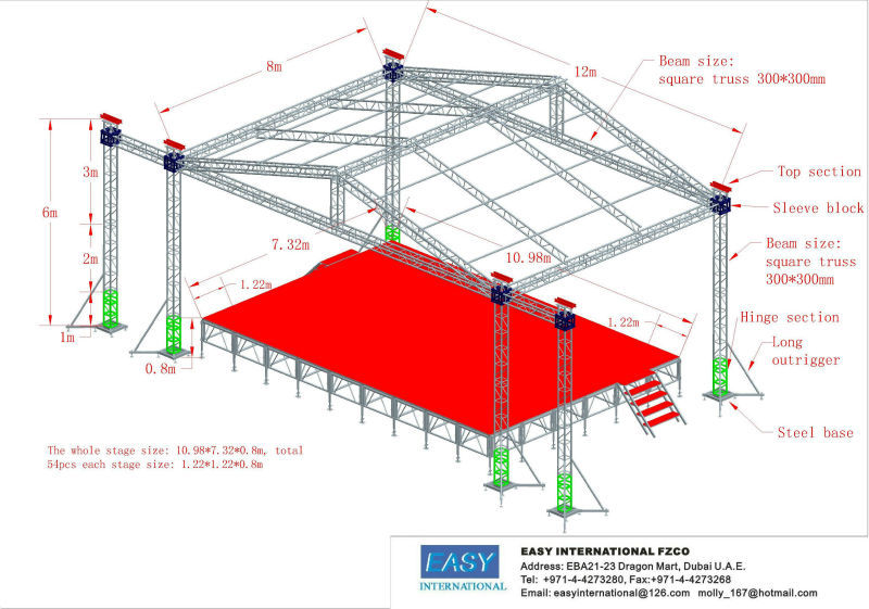 China Manufacturer Portable Outdoor Stage Roof Truss Booth
