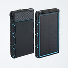 Portable 10000mah waterproof solar power bank flash for cellphone