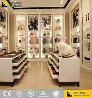 RCS2231 High-end luxury wall shelf garment shop interior design , clothing showroom design