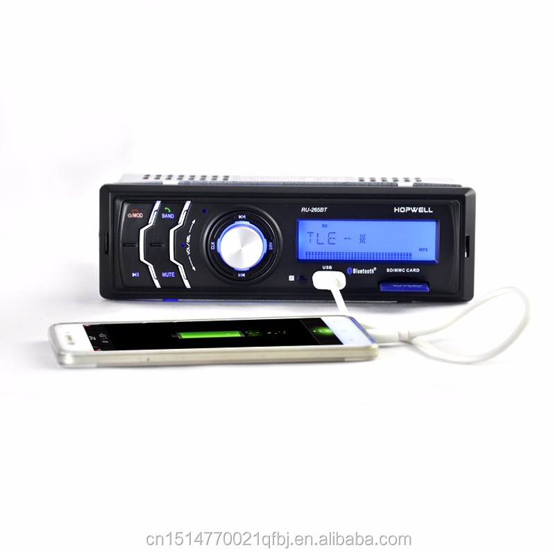 New 12V Car Stereo FM car Radio Bluetooth MP3 Audio Player Support Bluetooth Phone USB/SD MMC Port 1 Din Car DVD Player