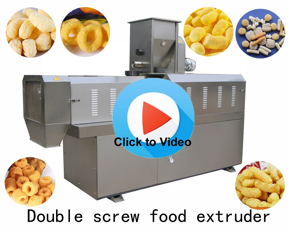 Wholesale corn rice puffed expanded snacks food making machine ...
