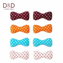 D&D 16pcs/Pack Fabric Covered Button Bowknot-liked with Color Dots Fabric Craft Buttons For Sewing Scrapbooking Supplies
