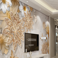 Beautiful Wall Mural Luxury Jewelry Style Wall Covering 3D Wall Mural