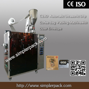 Ultrasonic Seal Indonesia Java Drip Coffee Packaging Machine with Outer Envelope