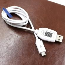 Top Quality NewDigital LCD Display Micro USB Data Charging Voltage Current Cable Cord For Android Phone JAN 29