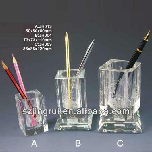 Wholesale crystal glass pencil holder souvenir gift JH003/004/013