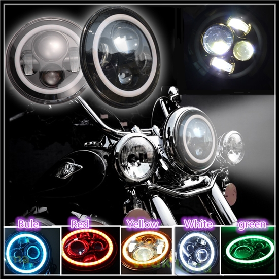 Wholesale Promotion Angel Eye Led Work Light 7inch Led Head Light ...