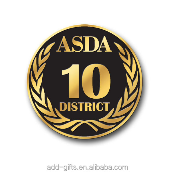 ASDA District hard enamel gold collectible coin, custom coin with excellent quality