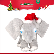 Wholesale christmas stuffed lovely plush elephant toys with big ears