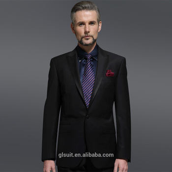 Black Suit Super 130 S 100 Wool New Style Wedding Dress Suits For Men