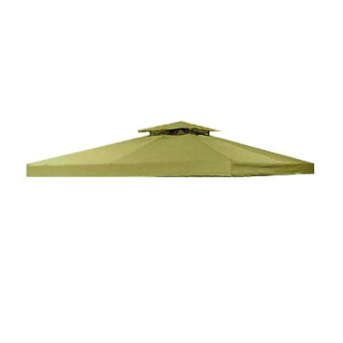 Garden Winds LCM412S-RS Universal x 10' Two-Tiered Gazebo RipLock 350 Replacement Canopy, Sage