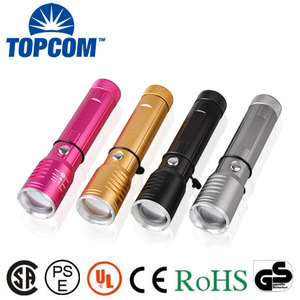 Stronglite LED Torch Aluminum Alloy 3w Led Holder Rechargeable Flashlight