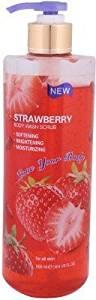 American Bouquet Strawberry Body Wash Scrub for All Skin 500 mL with Free Ayur Soap