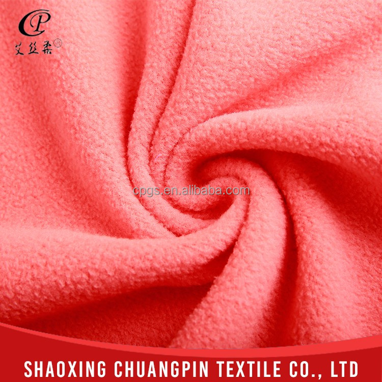 Professional manufacturer soft touch competitive price dye polar fleece fabric