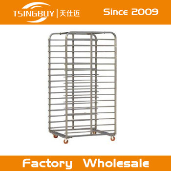 Customized Commercial Bakery Display Stainless Steel Trolley Rack Hs Code  With Heat-resistant Wheels Manufacture - Buy Stainless Steel Trolley Rack  Hs