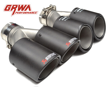 dual carbon fiber exhaust tip for Akrapovic