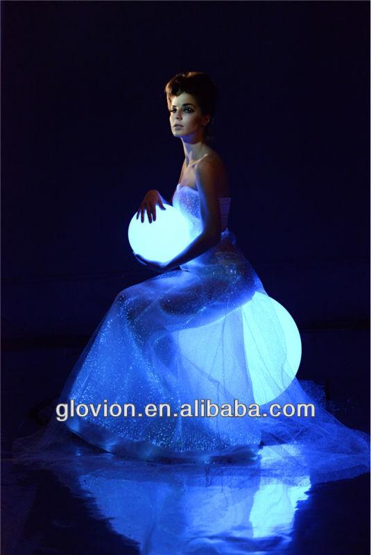 New Luminous Wedding Dress Glow In The Dark Formal Dress Lighted Wedding Gown View Luminous Wedding Dress Oem Product Details From Shenzhen Glovion