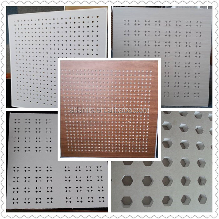 China superior design perforated acoustic gypsum board
