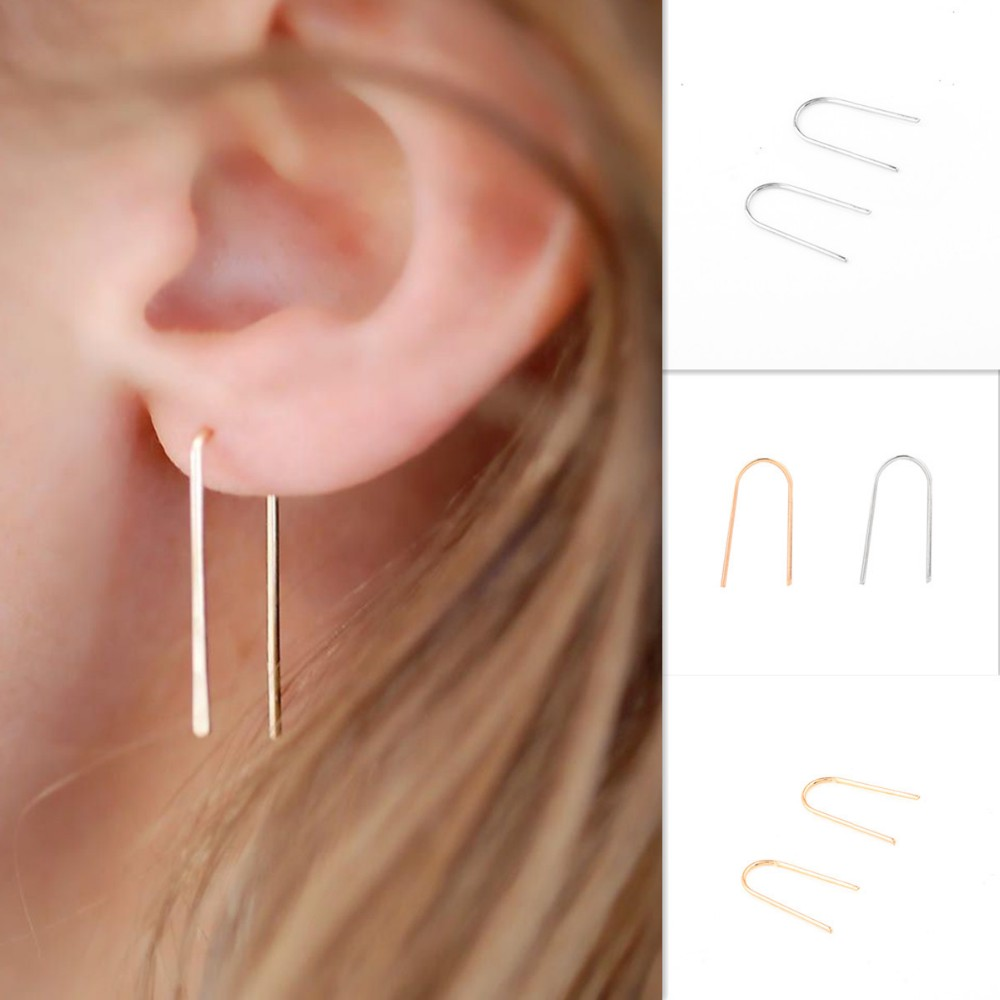 Newest Wholesale Crystal Korean Earring Design Simple Lady Earring Design