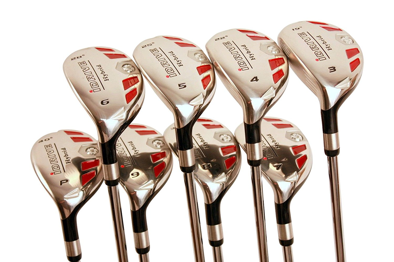 "Left Handed Petite Women's Golf Clubs All Ladies iDrive Hybrids Complete Set Includes: #3, 4, 5, 6, 7, 8, 9, PW. Lady ""L"" Flex New Rescue Utility Clubs. (Petite Short Women - 4'10'' to 5'3"")"